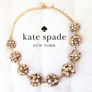 Kate Spade Multi-Color Crystal Bezel Gold Necklace